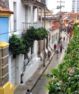 Uitzicht Cartagena colombia