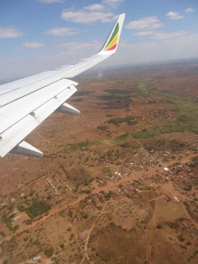 Vliegtuig Malawi uitzicht