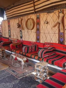 Wadi rum binnenin tenten jordanie