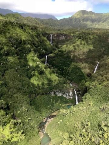 Watervallen in Hawaii helicoptervlucht
