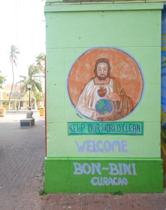 Willemstad wall art streetart