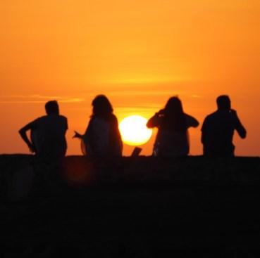 Zonsondergang Galle Sri Lanka