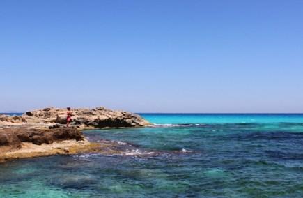 blauwe zee zwemmen formentera