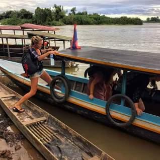 boottocht in laos backpacken
