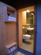 douchen in lake bled glamping