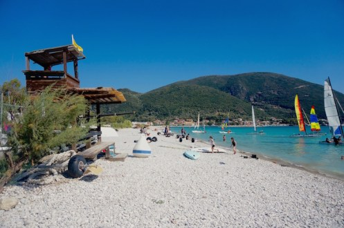lefkas Vasiliki strand surfen vakantie tips