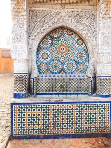 Marrakech fontein straatjes