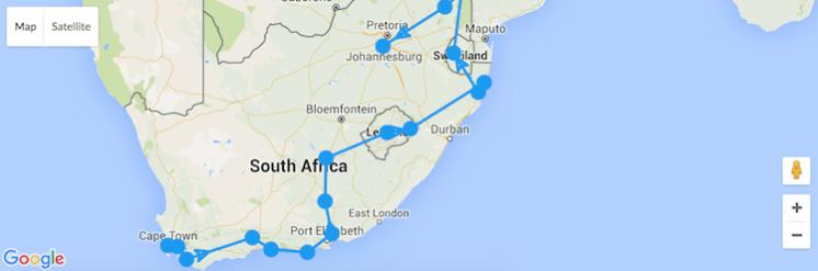 roadtrip afrika kaapstad naar johannesburg