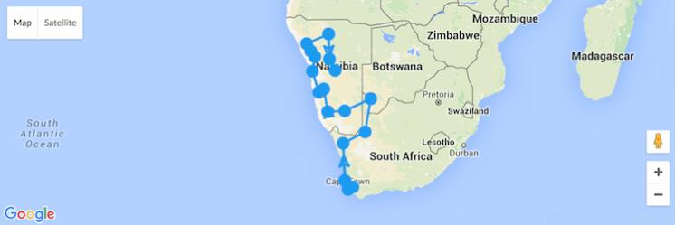 roadtrip namibie en zuid-afrika