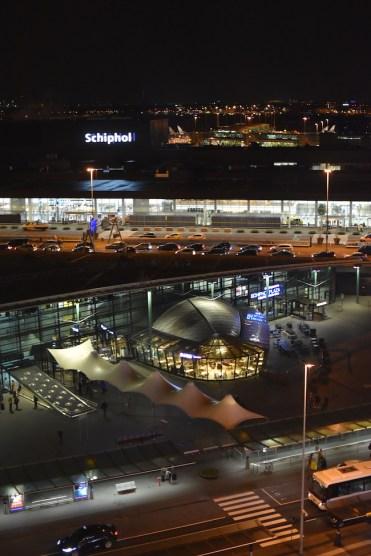 uitzicht hotelkamer sheraton airport