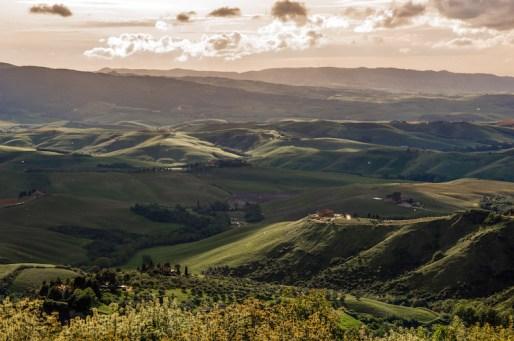 view Volterra in italie