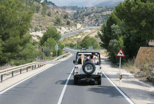 wat te doen in Benidorm Jeepsafari rondom de stad