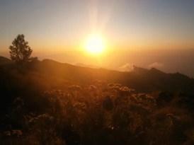 zonsopkomst trekking rinjani