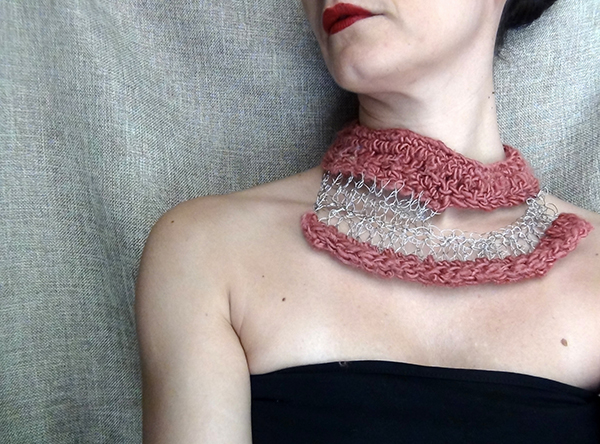 silk and wire crochet jewellery