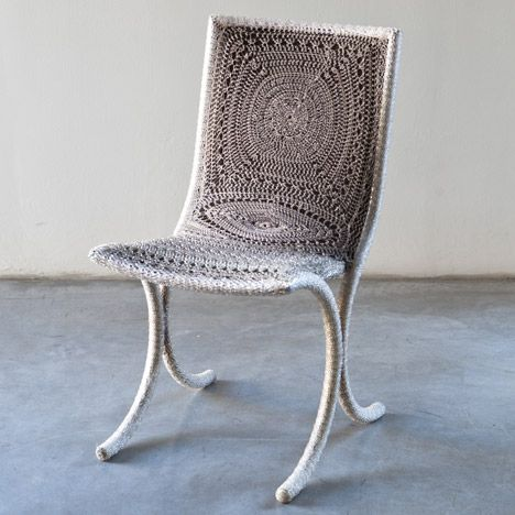 Nodi Contemporanei crochet chair