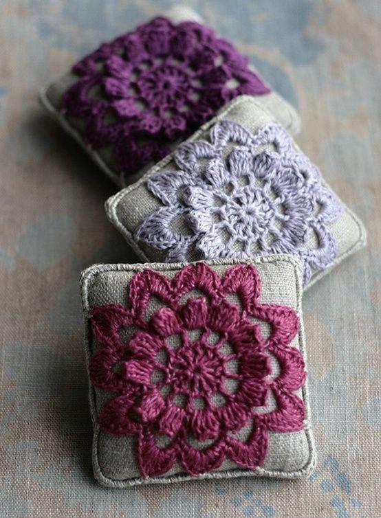 Lavender pin cushions