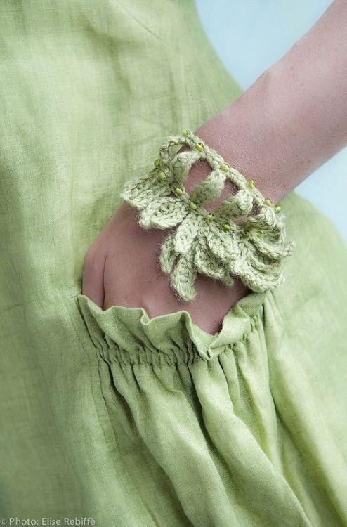 Jane Quillerat- lime green bracelet