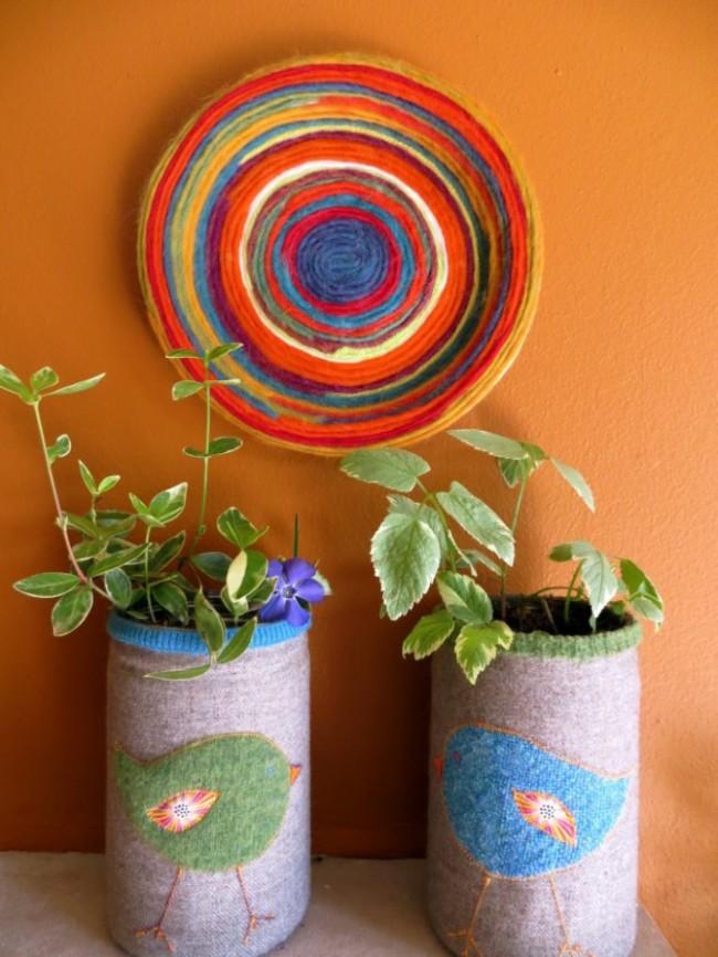 yarn decoration mandala