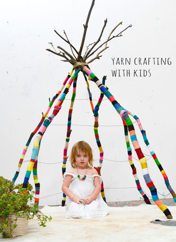 12 Yarn decorating with kids ideas | Deco Friday