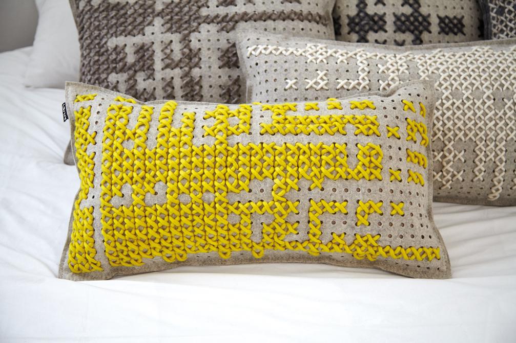 Gan rugs-canevas collection grey pillows 02