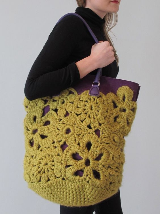 Erika Knight-crochet lace bag