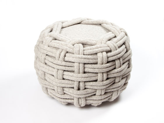 Claire-Anne O'Brien knitted pouf