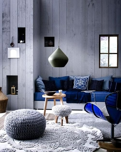 greys and wood ottomans ideas