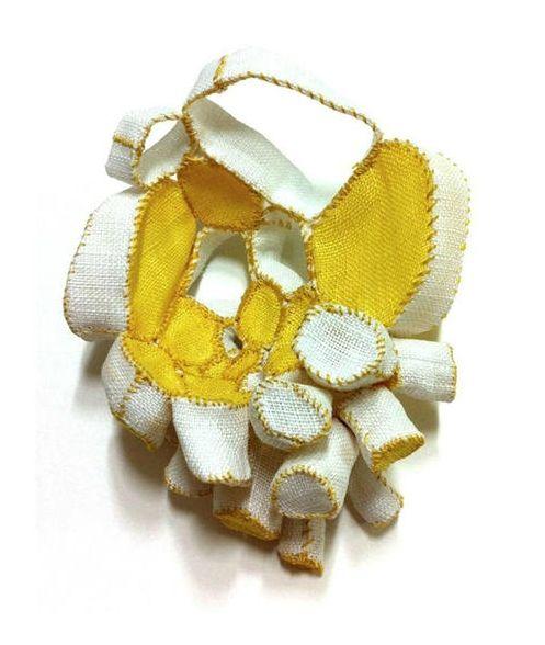 mina kang brooch yellow