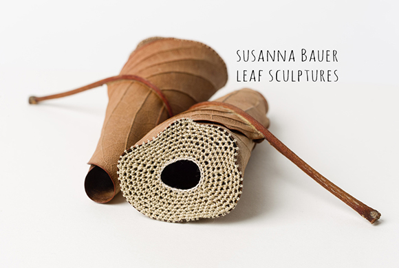 Sunday Visual Diary #15: Susanna Bauer-Crochet Leaf Sculptures