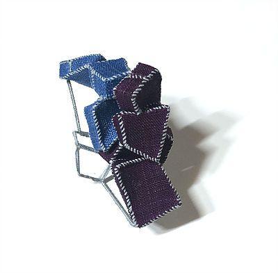 mina kang brooch blue purple