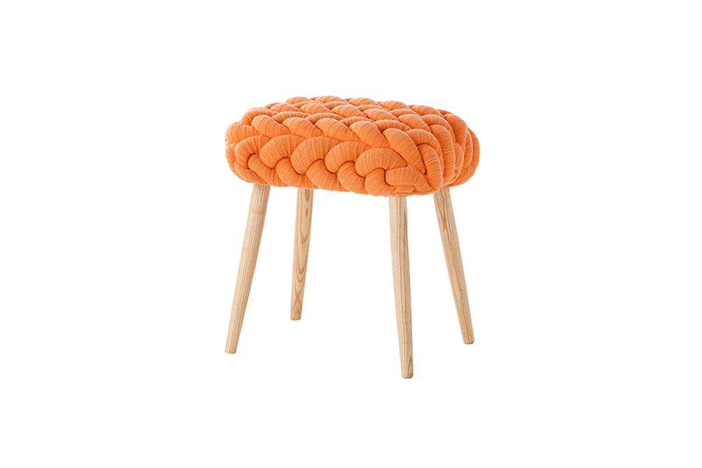 Claire-Anne O'Brien stool orange
