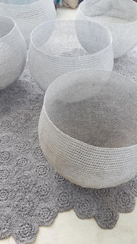 Moonbasket design rug and basket