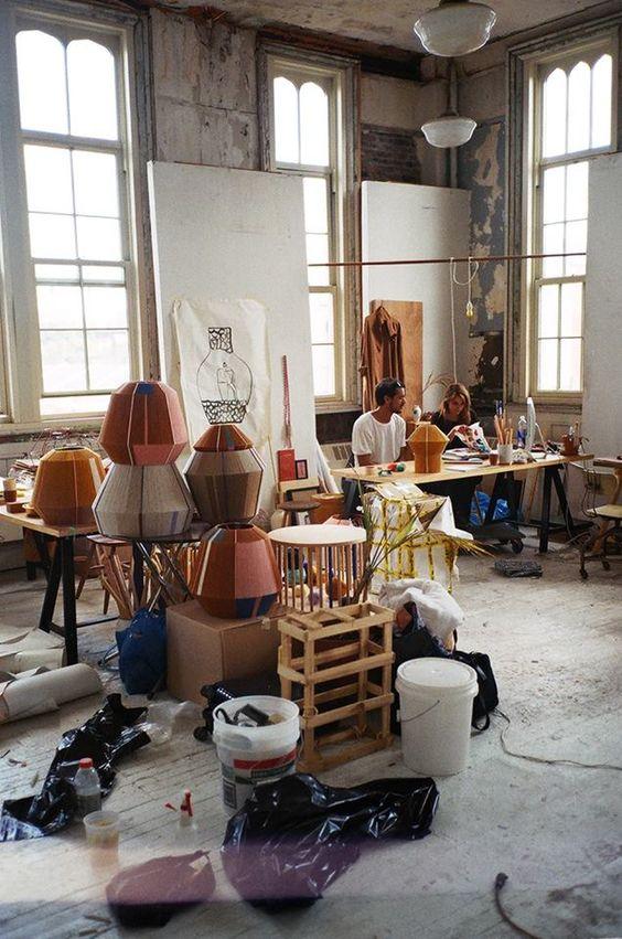 Ana Kras studio working