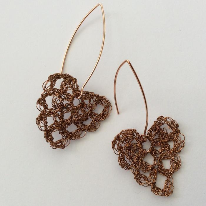 Moonbasket jewellery metallic earrings