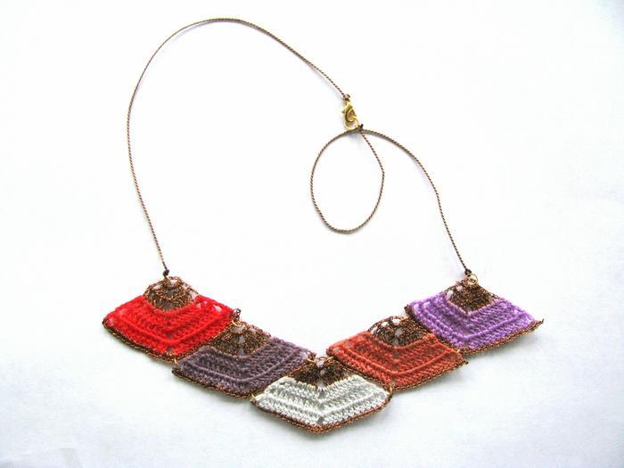 Moonbasket jewellery colour prism necklace