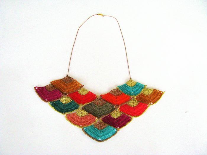 Moonbasket jewellery colour mega prism necklace