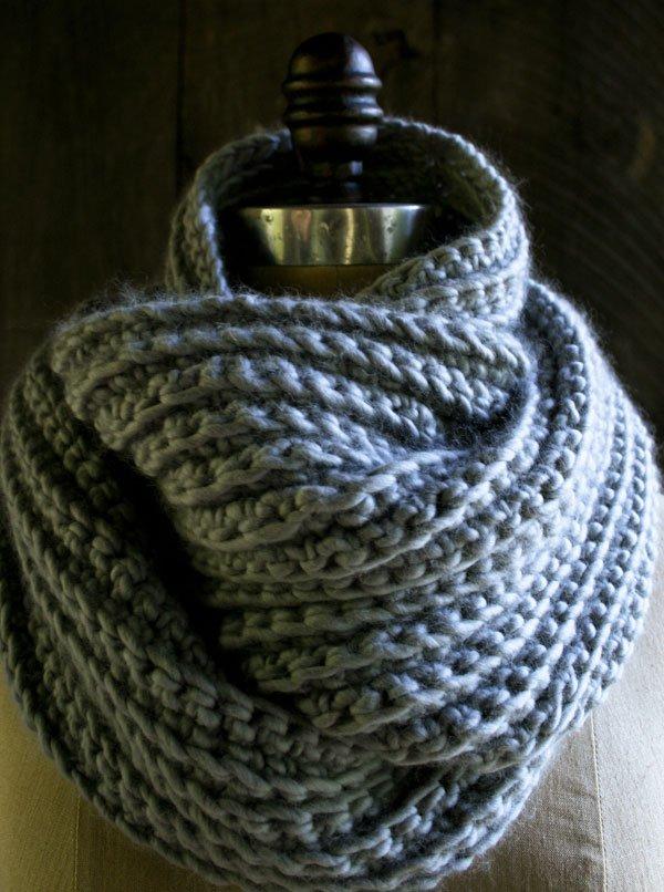 purlsoho crocheted rib cowl
