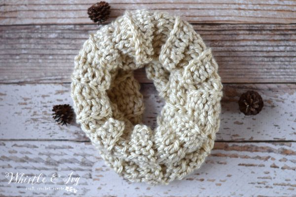 whistleandivy 30 minute crochet cowl