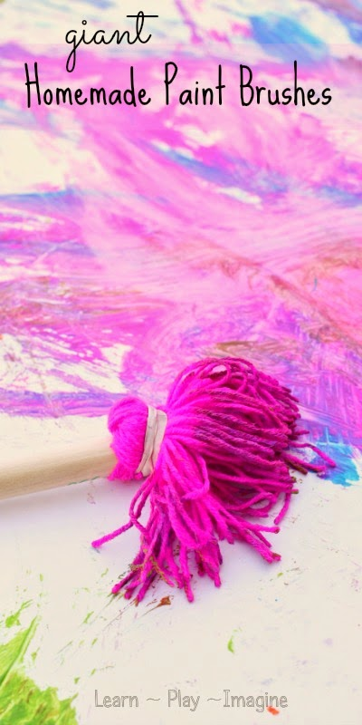 giant yarn painting brushes