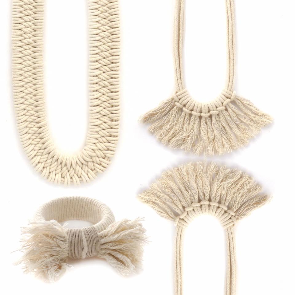 Zelma Rose jewellery in ecru
