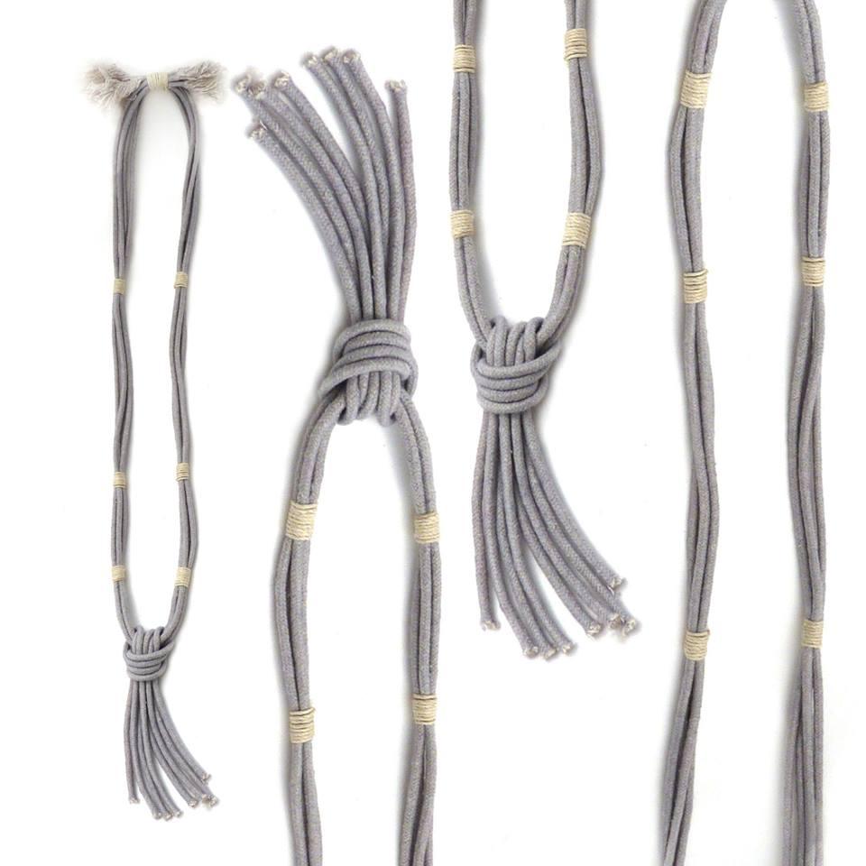 Zelma Rose grey necklace