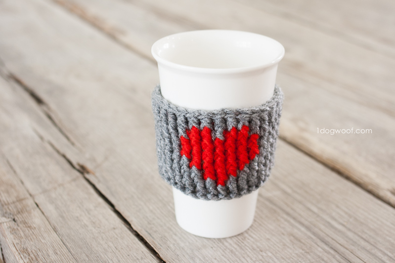 Valentine's Yarn Project Heart Cup Cozy 02