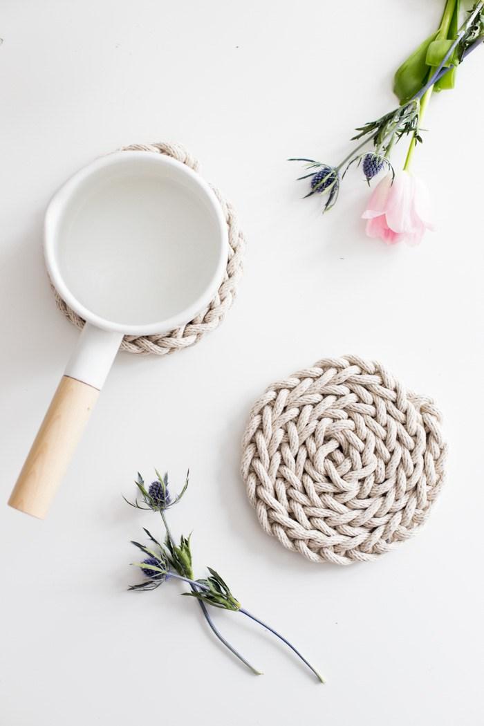 Finger Knit Rope Stylish Trivet 02