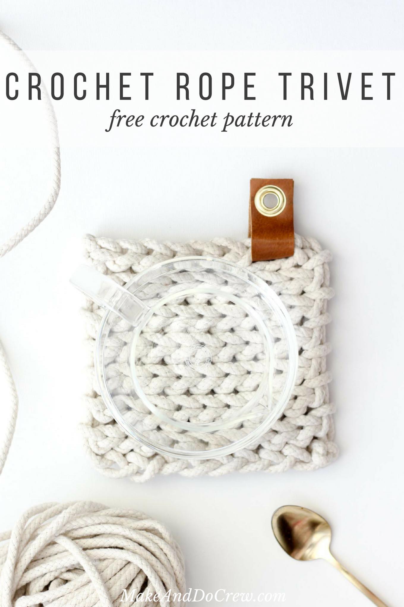 crochet rope stylish trivet