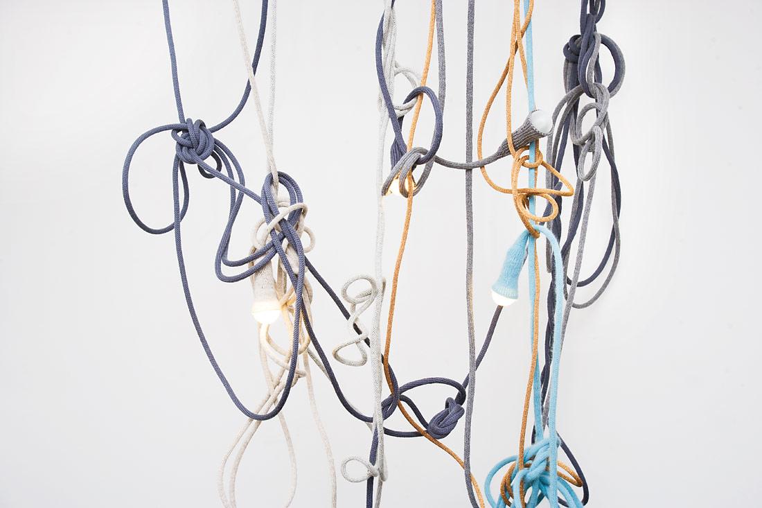 LLOT LLOV design studio hanging knitted lights