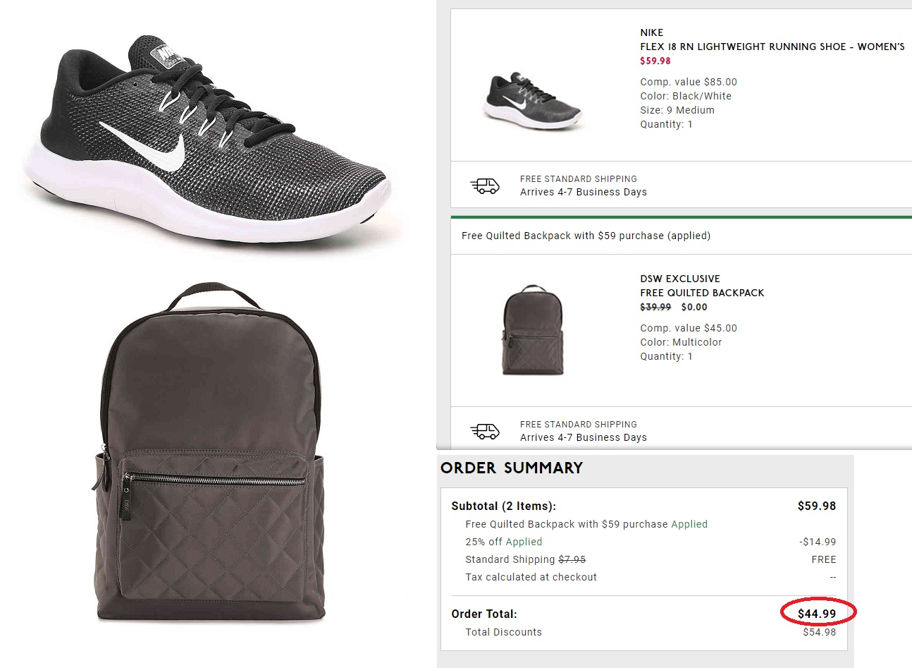 competitive price 7dc0c ffc4c DSW  Nike Flex 18 Sneakers AND Backpack – only  45 (reg  130) Shipped!