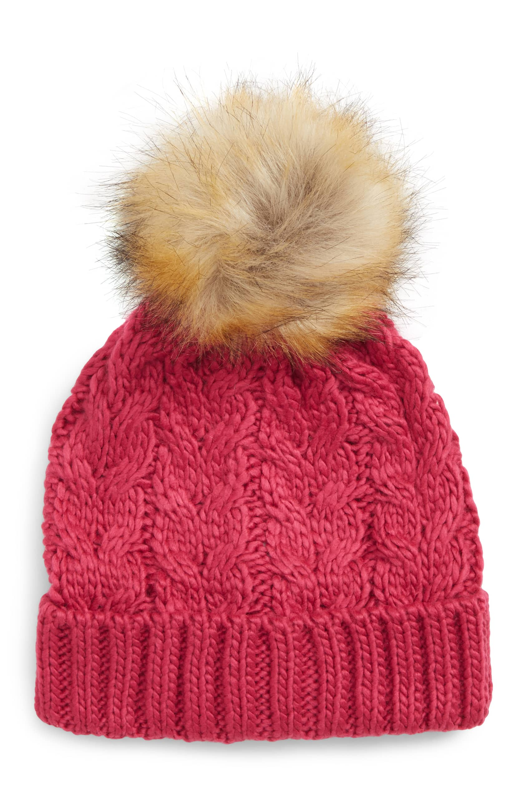 Nordstrom  BP Knit Beanie with Faux Fur Pompom – only  7 (reg  19) Shipped! 12e64ea1b63