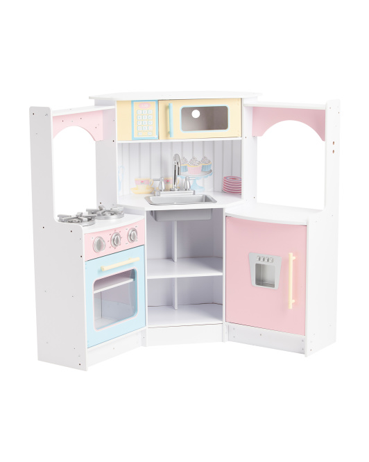 Marvelous Tj Maxx Kidkraft Deluxe Corner Play Kitchen Only 90 Reg Beutiful Home Inspiration Xortanetmahrainfo