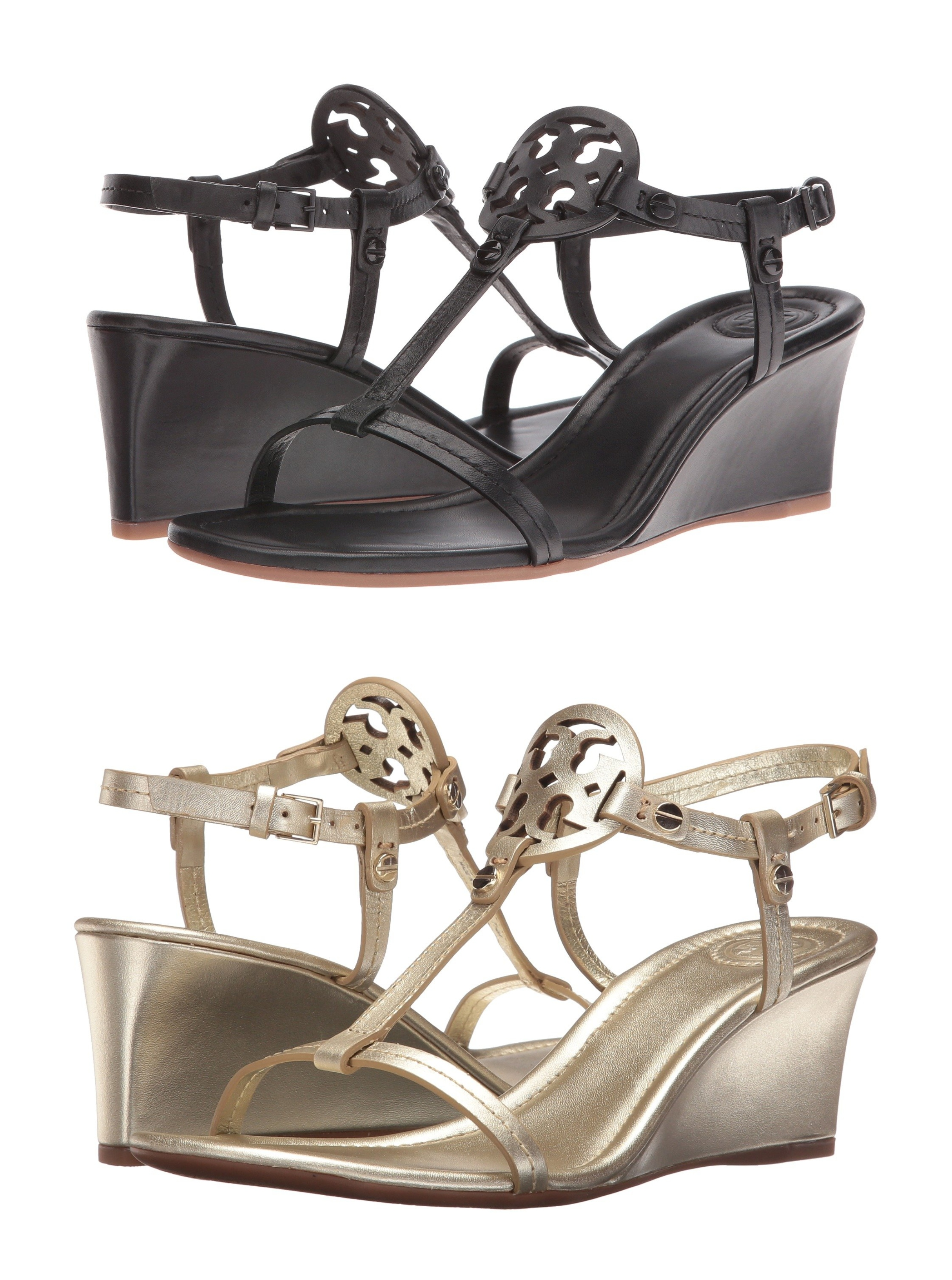 f9f85729ef98 Zappos  Tory Burch Miller 60mm Wedge Sandals – 40% Off + Free ...