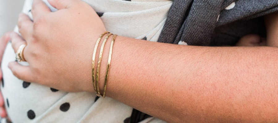 Isabelle Grace Jewelry Skinny Shimmer Cuffs